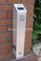 FREE SHIPPING popular outdoor ashtray bin,wall mounted ashtray, YB-HW101-SA(H48CM)  for NO BUTTS solution ,aluminium