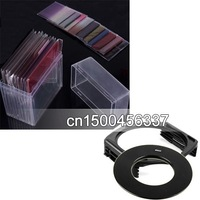 for Cokin P 77mm ring Adapter + 10pcs square color filter + Filter box + filter holder+free shipping +tracking number