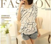 Women Blouses Shirt Chiffon  Plus Size body Feminina Top Tee Short Shirt Women Clothing Blusa Camisa Summer Tops Shirt blouse
