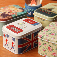 2pcs/lot Europe style tin box for card candy jewelry gift storage box 5.8 6