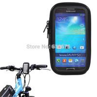 Waterproof Bike Motorcycle Phone Case Cover  Bag  Handlebar Mount Holder  For Samsung S5 S V i9600