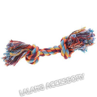 High QUALITY 1pc/lot Pet Dog Supplies Lovely Colorful Puppy Cotton Chew Knot Toy Braided Bone Rope 24*5.4cm ay870359