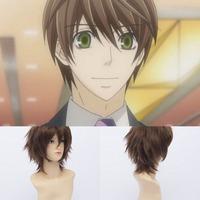 Qiyun Homosexuality Onodera Ritsu Short Straight Brown Cosplay Anime Costume Wig Peluca Perucke Perruque