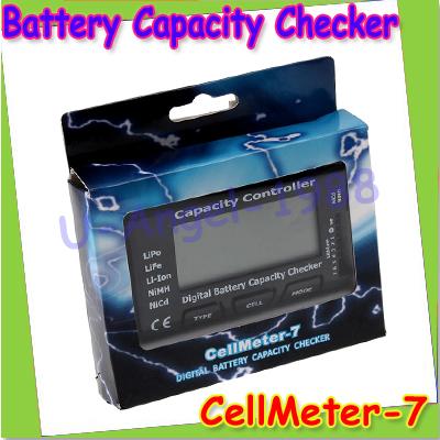 Free shipping + High Quality RC CellMeter-7 Digital Battery Capacity Checker LiPo LiFe Li-ion NiMH Nicd(China (Mainland))
