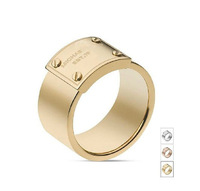 2014 New. Fashion quality copper material lock ring  letter ring 3 colors available