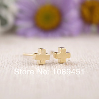 2014 New Arrival Fashion stud Earrings Simple Tiny Stud color gold/silver/rose gold 30 pairs/lot Free Shipping