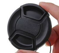 2 Pcs 77 mm Front Lens Cap Center Pinch Snap-On with Cord for All 77 mm Camera Lens Canon Sony Nikon Pentax new