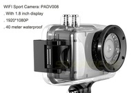 2014 New Action Sport Camera 1.8inch display With WIFI Control By Phone Tablet PC 1080P Full HD 40 meters Waterproof