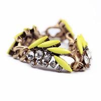 2014 Fashion Bohemian Style New Fluorescent Color Rhinestones Charm Flower Bracelet