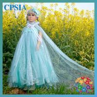 Frozen Cosplay Dress 2014 Newest Girls Frozen Trumpet Frozen Girls Party Dress Perform Dress Vestidos De Menina 6pcs/lot