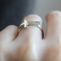 Fashion transverse cross ring cross of delicate ring free shipping wholesale