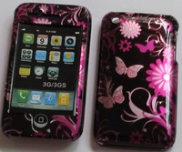 10pcs/lot New butterfly  zebra flower Hard front and back Plastic Shell Back Case Cover For Apple iPhone 3G 3GS free shipping