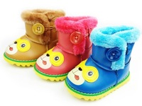 2014 new fashion Child snow boots leather boots fashion cartoon cotton-padded shoes winter warm shoes
