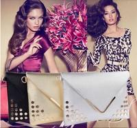 Hot sale special price Bags 2014 women's handbag personaly day clutch envelope bag fashion rivet bag small handbag black gold