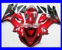 Motorcycle Fairing kit for KAWASAKI Ninja ZX6R 05 06 ZX6R 636 2005 2006 Black hot red ABS Plastic Fairings set +7 gifts SX45