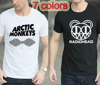 Cheap Mens Indie Rock And Roll Band Concert Album Tshirt Arctic Monkeys Sound Wave T Shirt Rock T-shirt Roll T Shirt