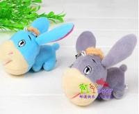 High quality Cute Little Donkey  10cm plush phone pendant,phone charm Spilling wedding presents