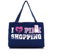 Free Shipping Totes VS Brand LOVE PINK Cotton Female Sports Bag Dark Blue Shopping Bag Summer Beach Shoulder bag
