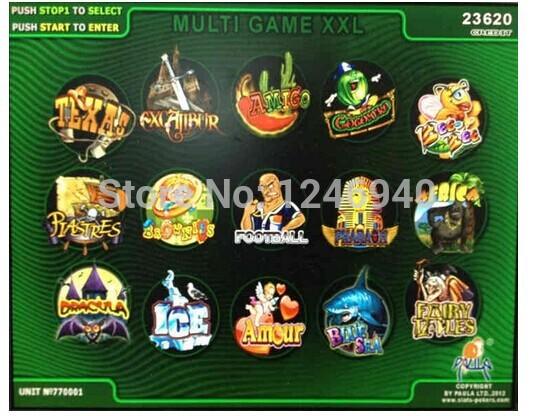 XXL New 15 In 1 Casino Game PCB/Gambling PCB/multi Game gambling board for LCD VGA slot arcade cabinet/game mechine(China (Mainland))