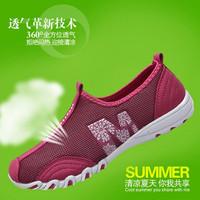 Casual Fashion Sports Women's Shoes 2014 Women's Gauze Ultra-light Running Shoes Breathable Walking Shoes