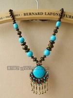 Bohemian ethnic style necklace pendant holiday handmade  pendant jewelry vintage female