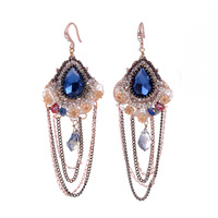 2014 seconds kill sale earing brincos grandes brincos quality exquisite gem earrings national trend alloy chains earring tassel