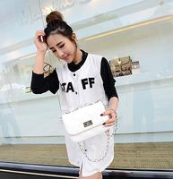 Women's handbag one shoulder chain messenger bag handbags!women fashion pu leather clutche handbag!2014 women mini brand handbag