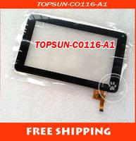 "Original New 7"" Prestigio Multipad 7.0 Ultra+ PMP3670B tablet TOPSUN-C0116-A1 Touch Screen Panel Digitizer glass Free Shipping"