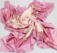 Fashion Woman 100% Silk Scarf Girl's Shawl Wrap Stole Lady Neckerchief S05094