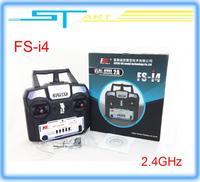 2014 New Version FS FlySky FS-i4 2.4G 4ch Transmitter and Receiver System LED for RC helicopter Glider VS FS-T6 Free shippi gift