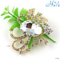 P168-507 Free Shipping 10 pcs/lot broches free shipping women clear rhinestone punk brooch pin