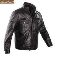 Freeshipping! New Fashion men's  cow leather motobike jacket  men clothes  EX-9901