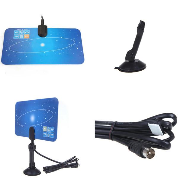 Top Sale 1080P,1080i,720P TV Antenna Receiver,EU Plug Digital Indoor TV Antenna HD TV HD VHF UHF Flat Design High Gain(China (Mainland))