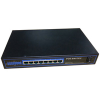 8 ports Desktop PoE Switch 10/100Mbps.15.4W For all IP Camera, LED Indicators For Monitoring Power Auto MDI/MDIX Free shipping