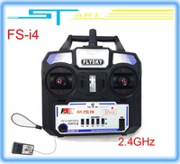 10pcs/lot 2014 New Version FS FlySky FS-i4 2.4G 4ch Transmitter and Receiver System LED for RC helicopter Glider Drop sh boy toy