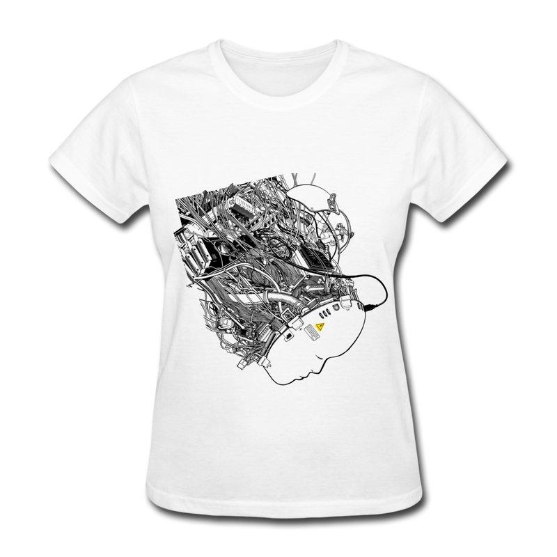 Womans T-shirts 100% Cotton Virtual Reality Customize Womans T Shirts 2014(China (Mainland))