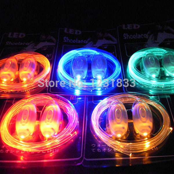Boys Girls Kids Light Up LED Shoelaces Flash Party Disco Shoe Laces Shoe Strings Free Drop shipping Stock(China (Mainland))