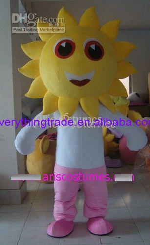 2014 New sunflower mascot costume mascot suit mascot fancy dress costumes custom mascot party costumes(China (Mainland))