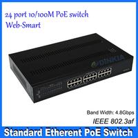 24-Port 10/100Base_T Ethernet Managed Web-Smart PoE Switch with 2*1000MBase_T + 2*1000M SFP Port  DS-1224GW-AF DS-1224GW-AF