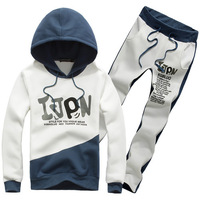 4 Color/5 SizeThe New High Quality Pure Cotton Fashion Men Hooded Sports Suits, Sports Fleece Suits  TZ501