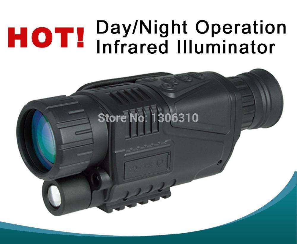 Numérique de vision de nuit portée ir caméra vidéo numérique de la lumière et 5mp 5x40 jour/nuit, livraison gratuite