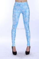 New Arrival Digital Printed Women Leggings Snowflake Design Pattern Pants For 2014 Summer Fashion NADANBAO DK268