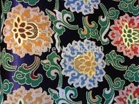 fabrics textile, Chinese silk tapestry satin,Lotus,national v1