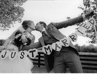 Just Married Vintage Wedding Bunting Banner Photo Booth Props Garland Bridal Shower wedding decoration