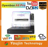 DVB-S2 STB OPENBOX A6 PRO Cardsharing+FTA FULL HD 1080P internet youtube Support 3G and IPTV better than skybox f3s,skybox f5s