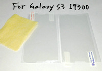 100pcs/lot LCD Clear Front Screen Protector Guard For iPhone For Samsung  with Film Cleaning Cloth wholesale price