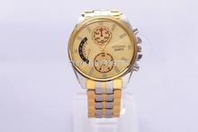 2014 new watch Wholesale 18k gold plated quartz wrist watch men luxury brand Rosra jewelry high quality