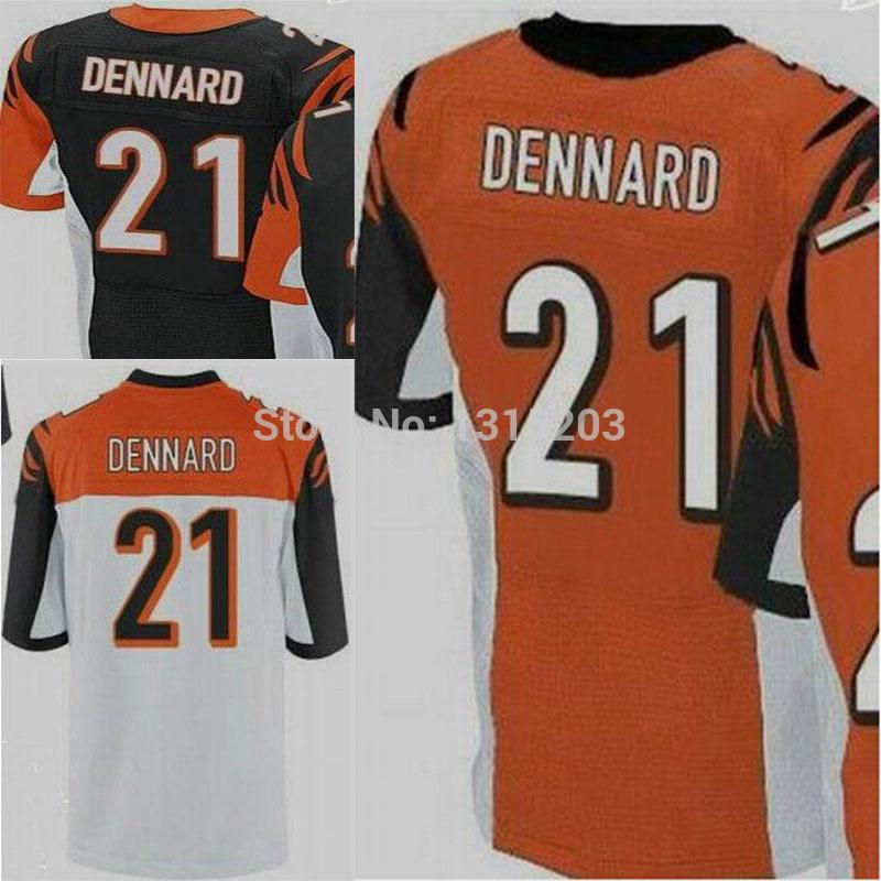 Darqueze Dennard Cheap 21 black,white Elite stitched American Cincinnati Football Jerseys Free shipping+ Dropping Shipping(China (Mainland))