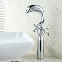 Free Shipping Faucet Bathroom Basin Faucet Water Mixer Tap Chrome Swivel Brass Bathroom Sink Faucet Torneira Banheiro