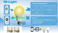 5w wifi milight control WIFI e14 bulb led temperature adjustable led bulb CT